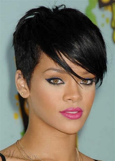 The Best Top Quality Rihanna Hairstyle Super Short Straight Black Pictures