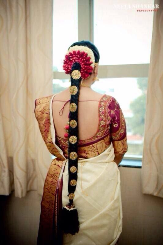 The Best Traditional Southern Indian Bride S Bridal Braid Hair Pictures