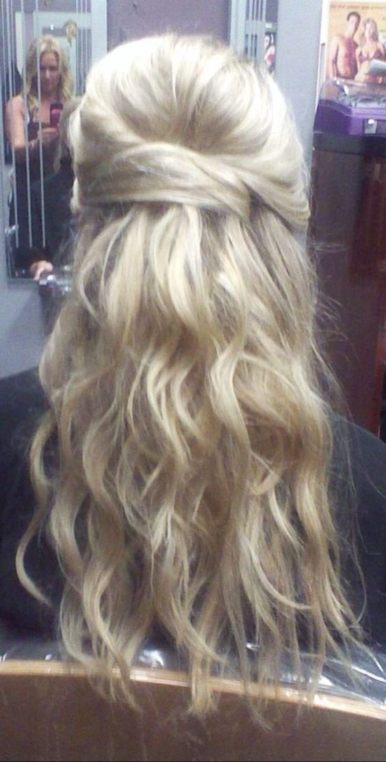 The Best Wedding Human Hair Extensions And Wedding Hair Half On Pinterest Pictures