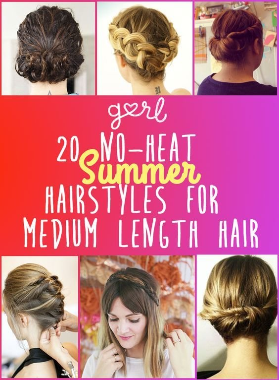 The Best 20 Easy No Heat Summer Hairstyles For Girls With Medium Pictures