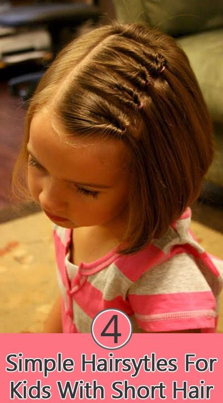 The Best 4 Simple Hairstyles For Kids With Short Hair Girls For Pictures