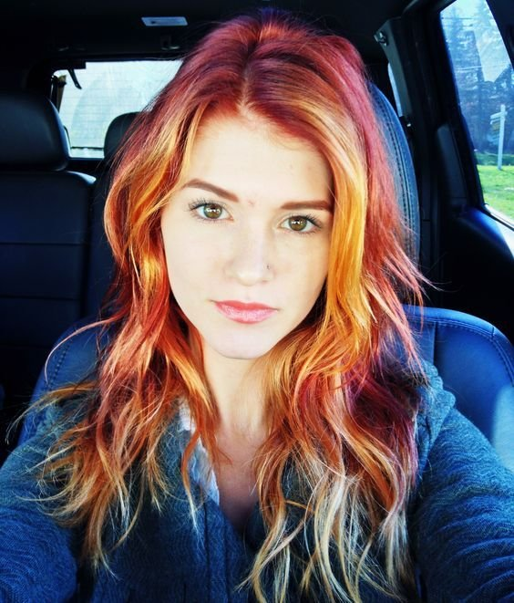 The Best Ombre Hair Red To Blonde Me Pinterest Nice Colors Pictures
