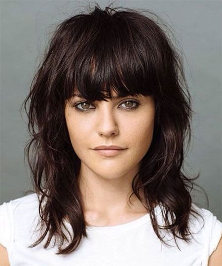 The Best 15 Modern Medium Length Haircuts With Bangs Layers For Pictures