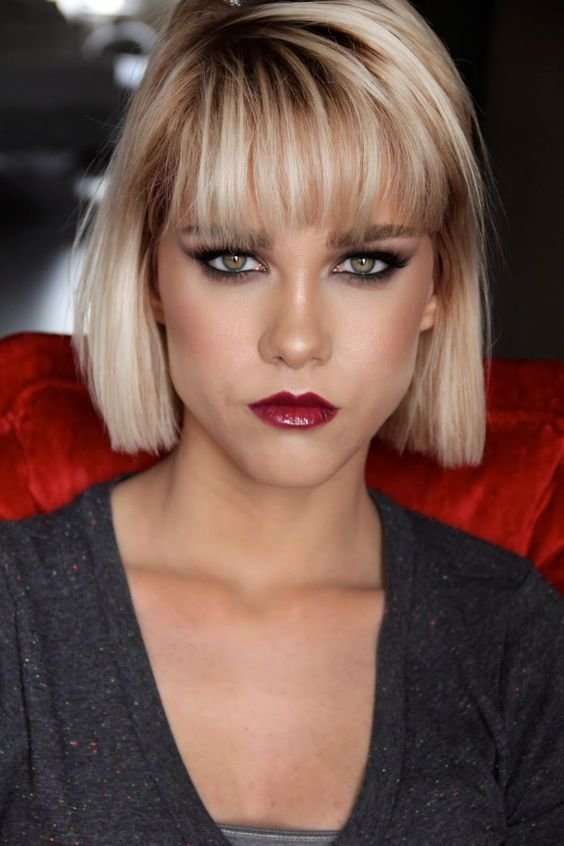The Best Dramatic Makeup Bangs And Winged Liner On Pinterest Pictures