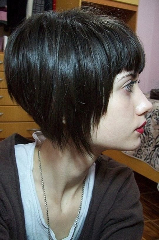 The Best Angled Bob With Bangs Edgy Short Hair Pinterest Something New Black Bob And Angled Bobs Pictures