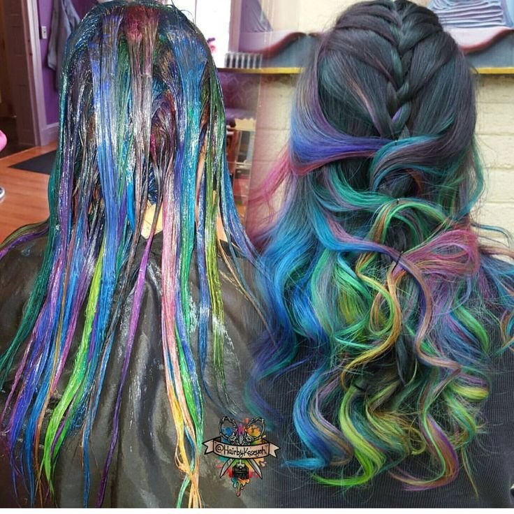 The Best Mermaid Hair Color By Hairbykoh Rainbow Hair Color Www Pictures
