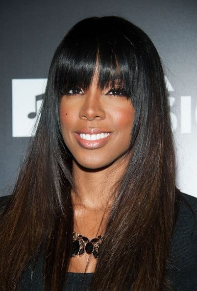 The Best Kelly Rowland Full Sew In Weave With Fringe Hair Styles Pictures