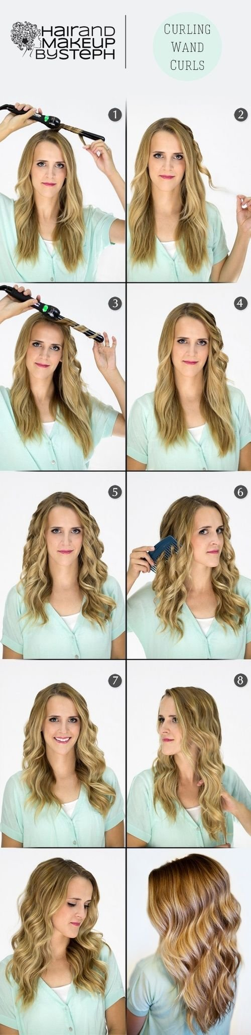 The Best 1000 Ideas About Curling Wand Curls On Pinterest Easy Pictures
