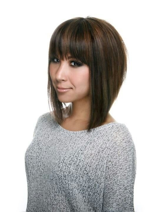 The Best A Line Bob Haircut With Bangs Love The Cut Hair Pictures