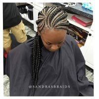 The Best Cornrows With Swoop Bangs Hairstylegalleries Com Pictures