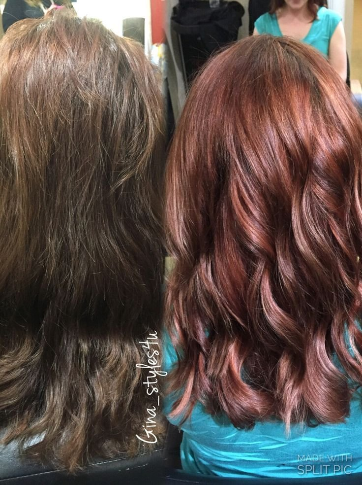 The Best Rose Gold Hair Color On Previously Brown Hair Color Pictures