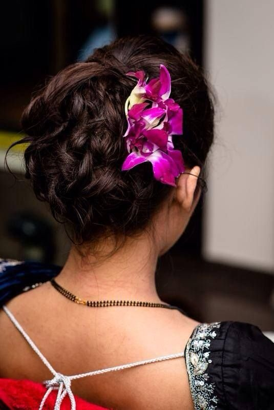The Best South Indian Bridal Reception Hairstyle Hair Bun With Pictures