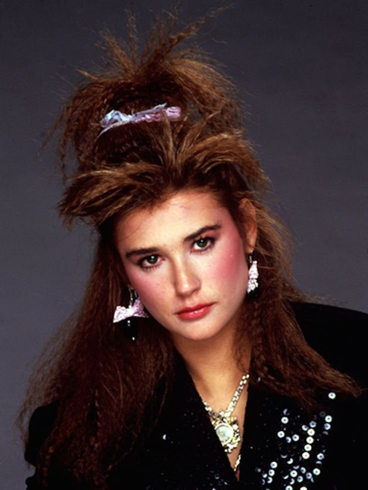The Best Demi Moore With Crimped Hair C 1985 1980S Pinterest Pictures