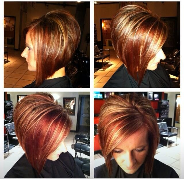The Best Short Hair Align Bob Stacked Fall Hair Color Hair Pictures