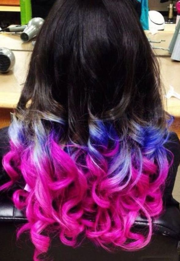 The Best Dip Dye Pink Blue Hair Different Hair Colors Hair Pictures