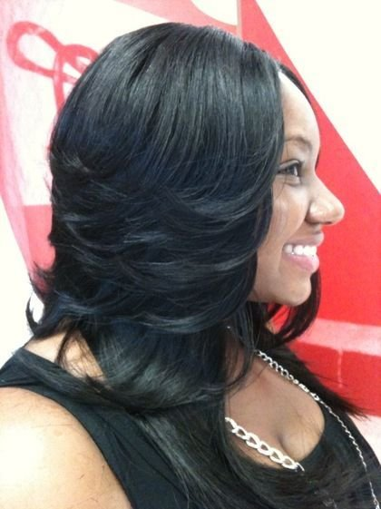 The Best 10 Best Ideas About Layered Weave On Pinterest Long Bob Pictures