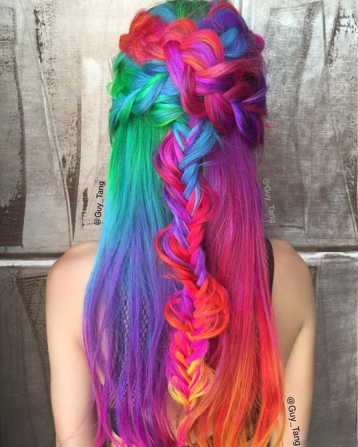 The Best 1000 Images About Rainbow Hair On Pinterest Hair Pictures