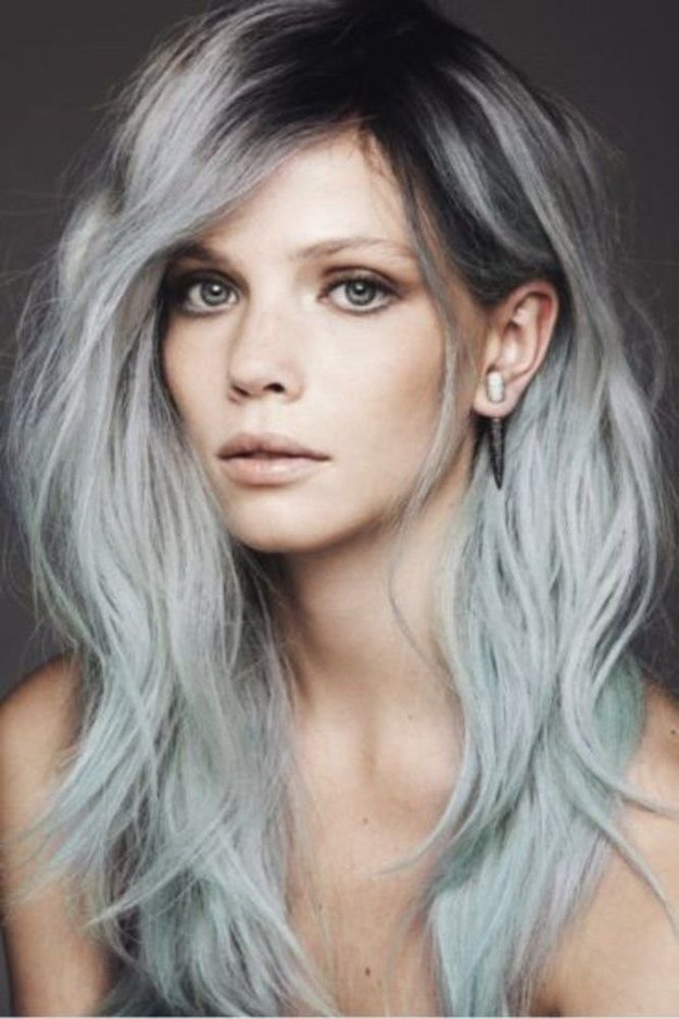 The Best Gray Hair Transition On Pinterest Gray Highlights Curly Pictures