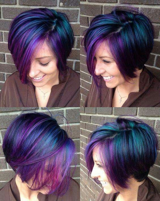 The Best Iridescent Peacock Colored Hair Hair Pinterest Pictures