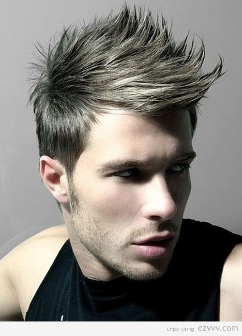 The Best Spiky Hairstyles For Men Faux Hawk Mens Hairstyle Pictures