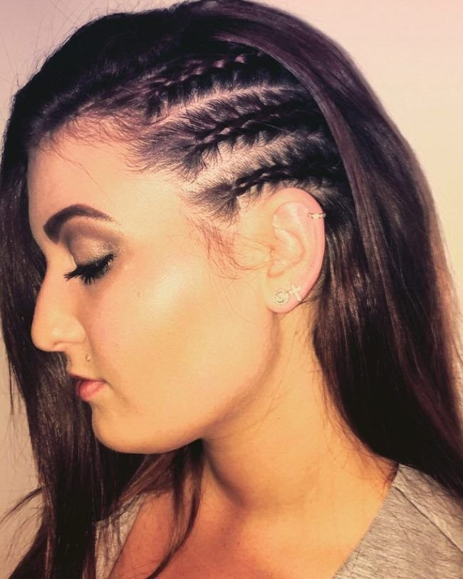 The Best Three Half Braided Side Twists Vlechtjes Pinterest Pictures