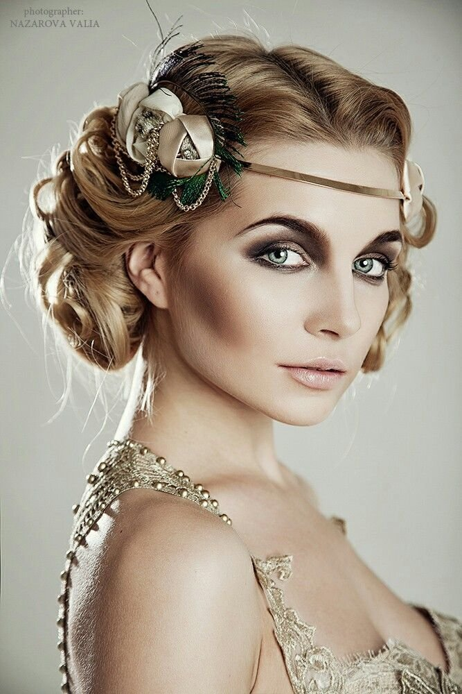 The Best Great Gatsby Headpiece Champagne Feather Fascinator Pictures