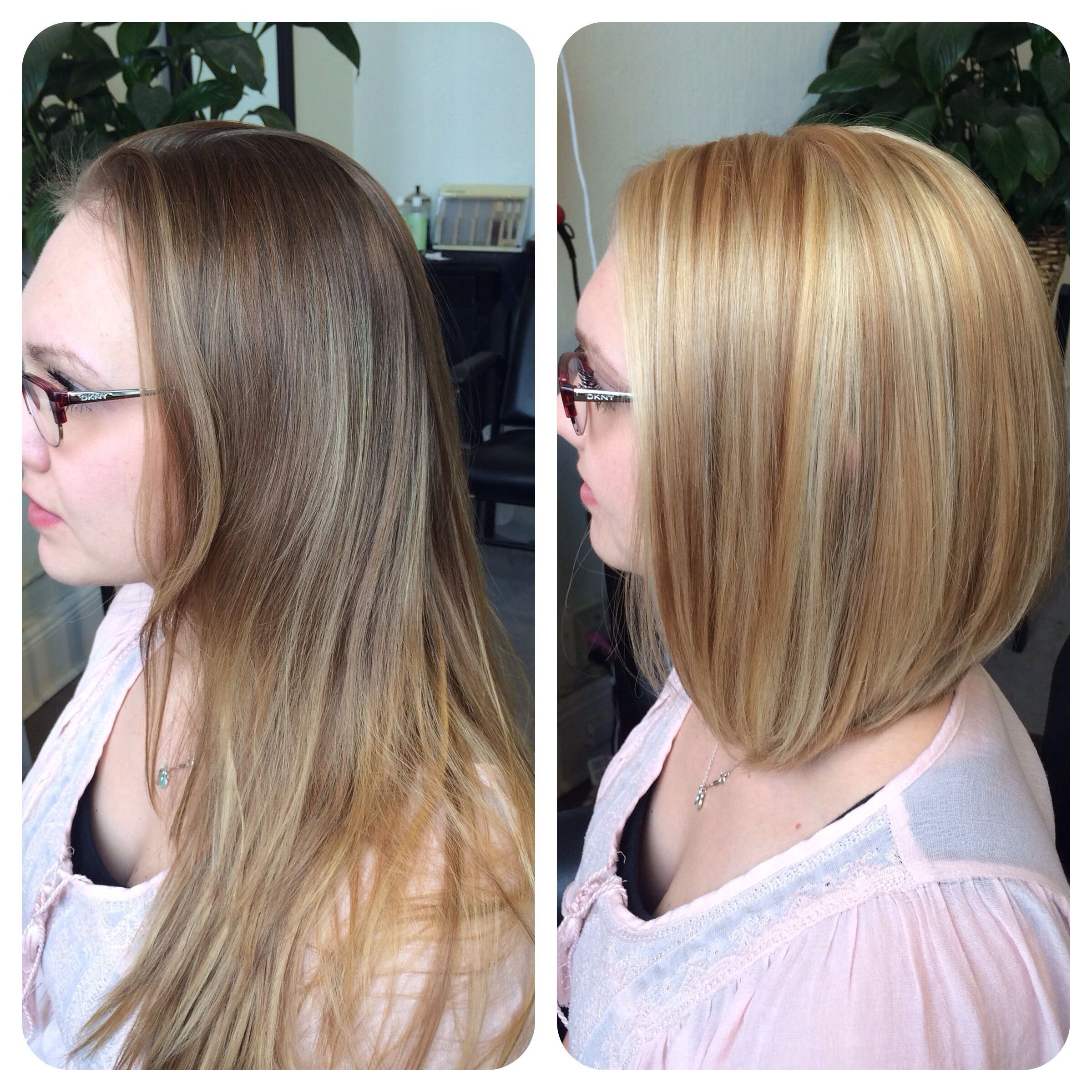 The Best Before After Partial Highlight With Blonde All Over Color Pictures