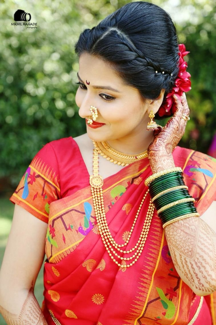 The Best Maharashtrian Bride Wearing Traditional Saree And Bridal Pictures
