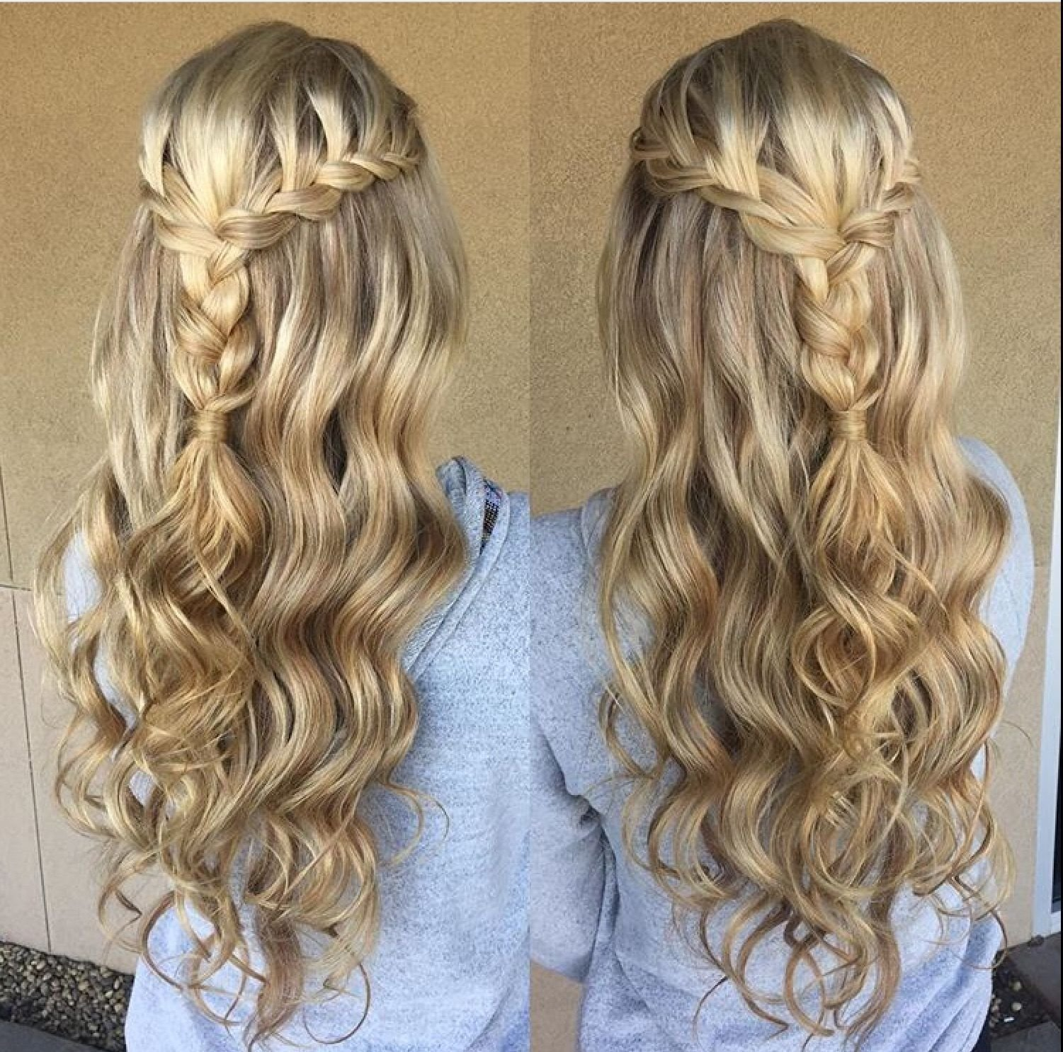 The Best Blonde Braid Prom Formal Hairstyle Half Up Long Hair Pictures