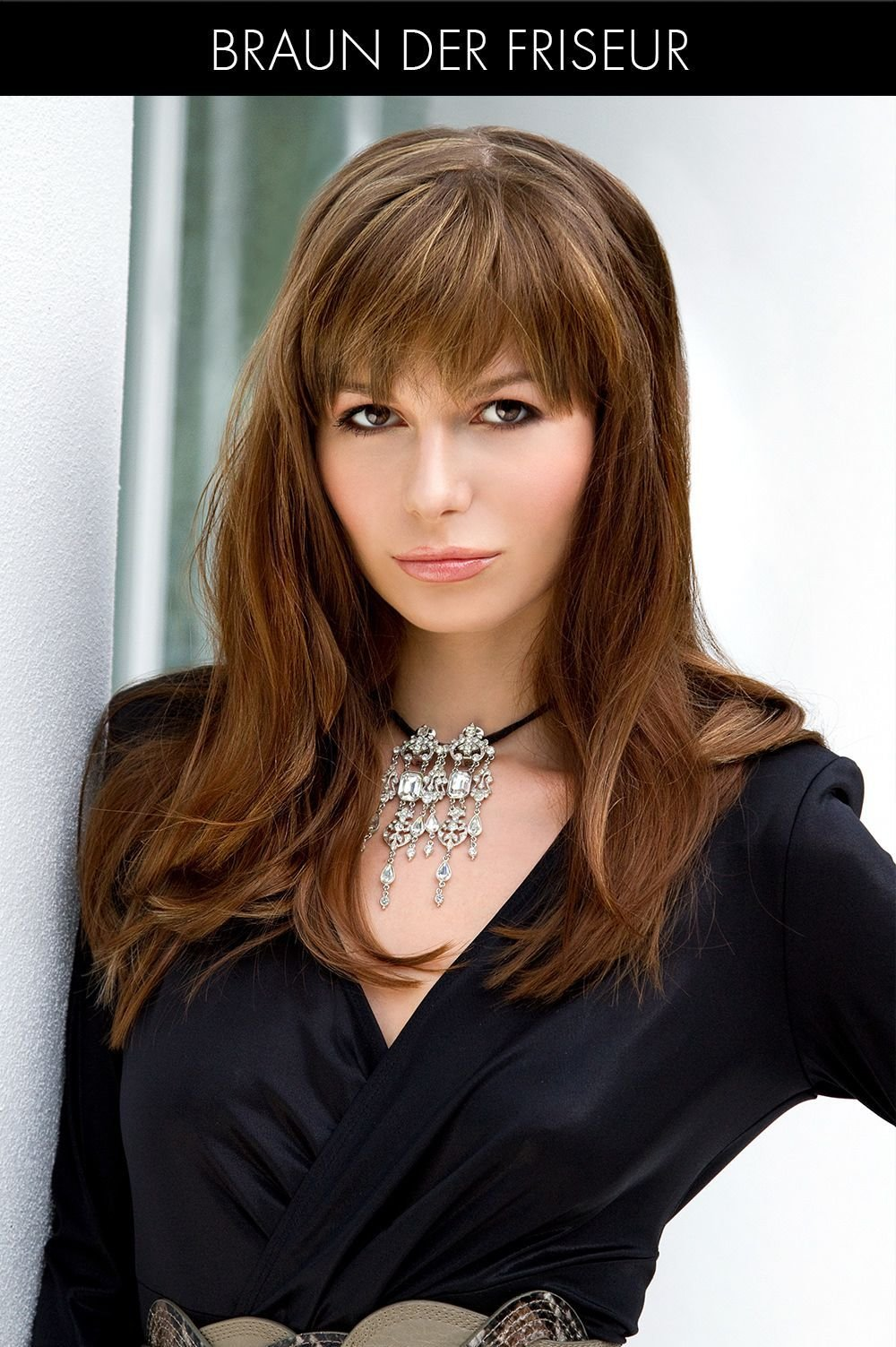 The Best Long Hairstyle With Full Fringe Bangs Pinterest Full Pictures