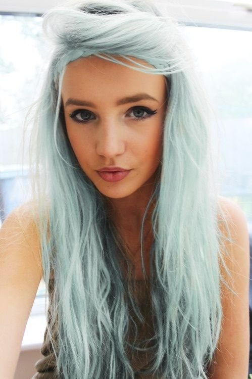 The Best What Color Should You Dye Your Hair Blue Colors Gray Pictures