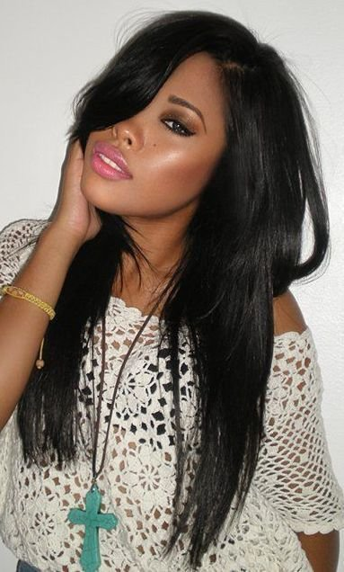 The Best Straight Weave Hairstyles On Pinterest Black Weave Pictures
