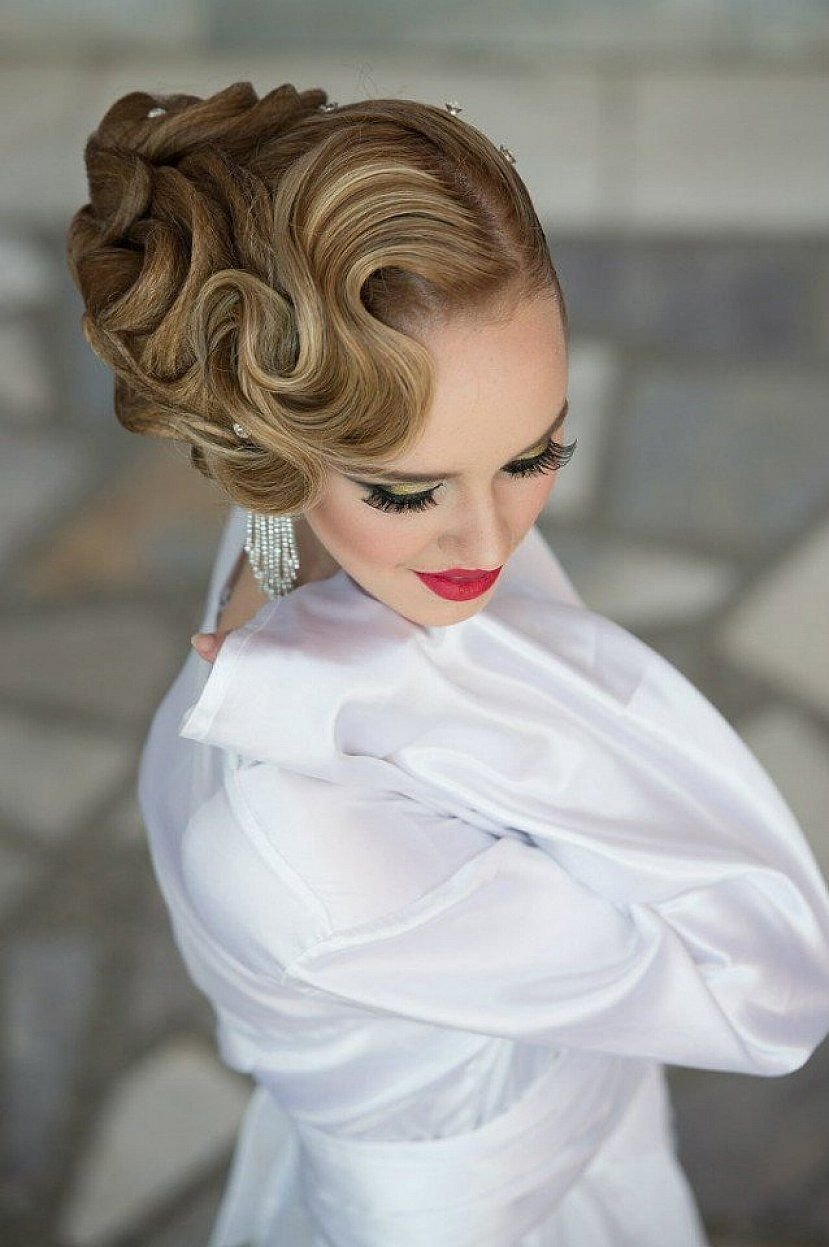 The Best Beautiful Finger Wave Hairstyles With Updo For Long Hair Pictures