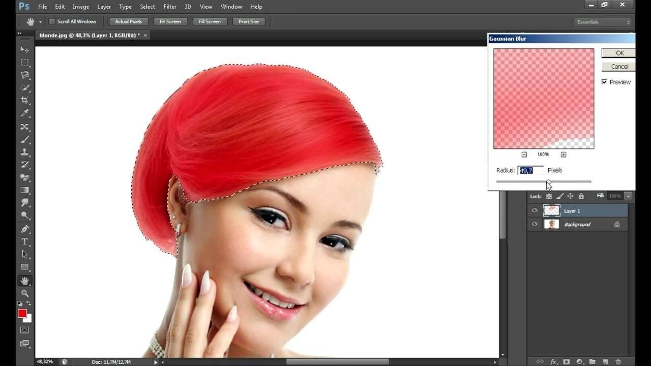The Best How To Change Hair Colour In Photoshop Smugg Bugg Pictures