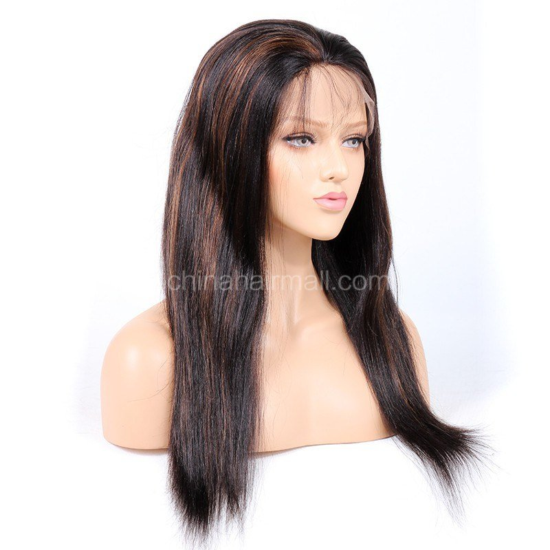 The Best 1B 30 Highlight Color Full Lace Wigs Indian V*Rg*N Hair Pictures