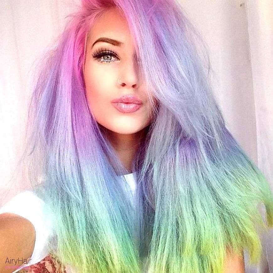 The Best 20 Crazy Rainbow Hair Extensions Hair Color Ideas For 2019 Pictures