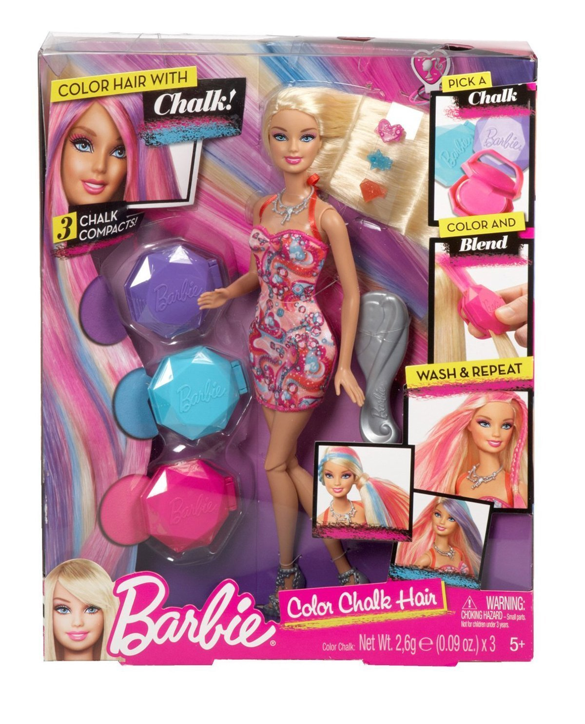The Best Barbie Colour Chalk Hair Doll By Mattel Y7450 New Gift Pictures