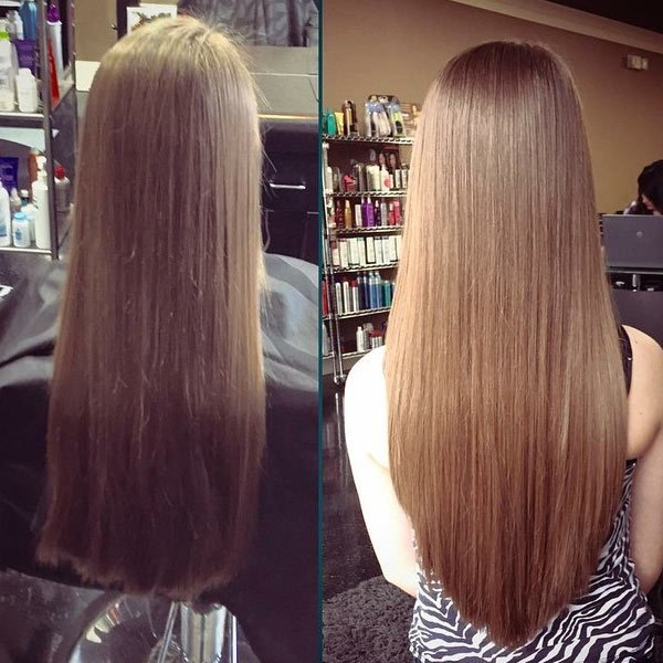 The Best More V Cut Hair Pictures