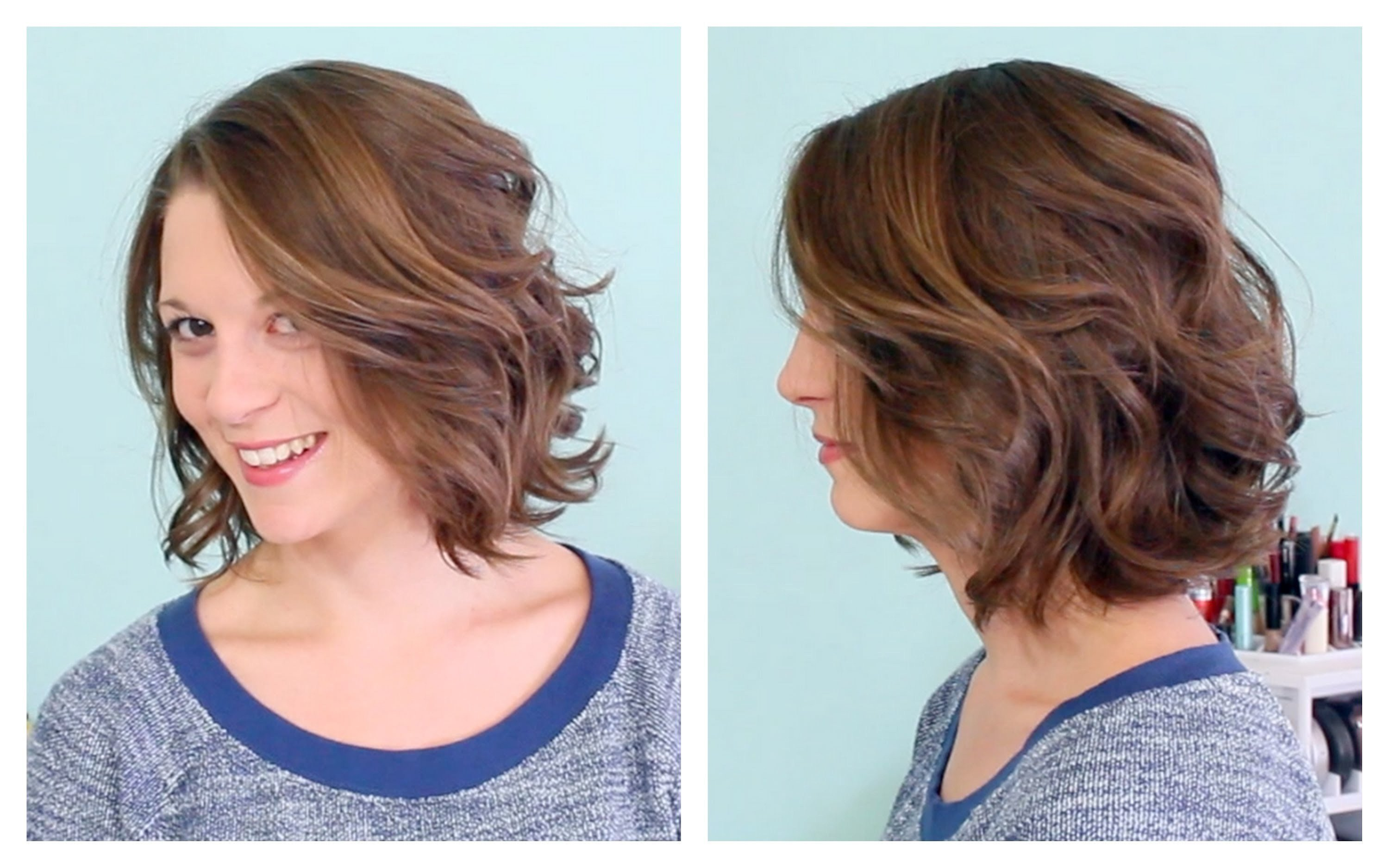 The Best Fashion Beach Wave Perm Medium Hair Before And After Pictures