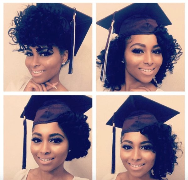 The Best 5 Ways To Slay Your Cap Gown Voice Of Hair Pictures