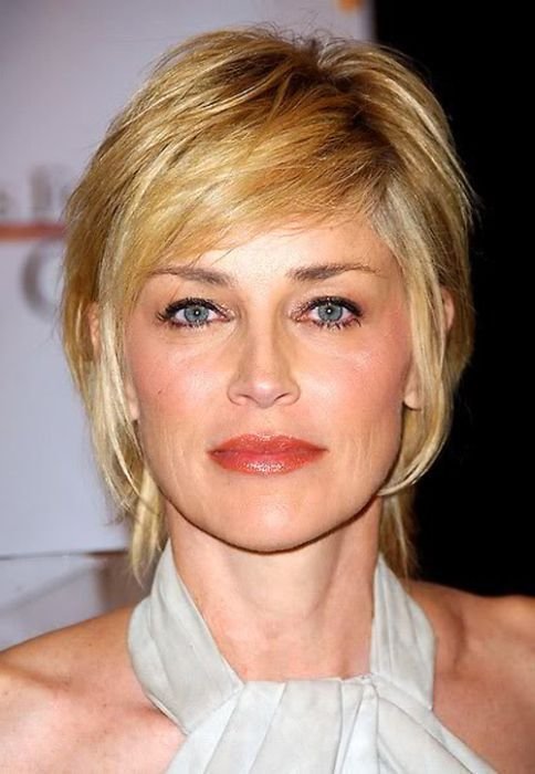The Best 12 Impressive Sharon Stone Short Hairstyles Pretty Designs Pictures