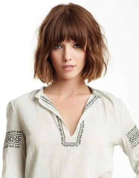 The Best Time To Write Curly Bob Hairstyle With Blunt Bangs Pictures