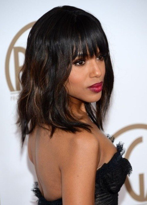 The Best 12 Coolest Black Hairstyles With Bangs Pretty Designs Pictures