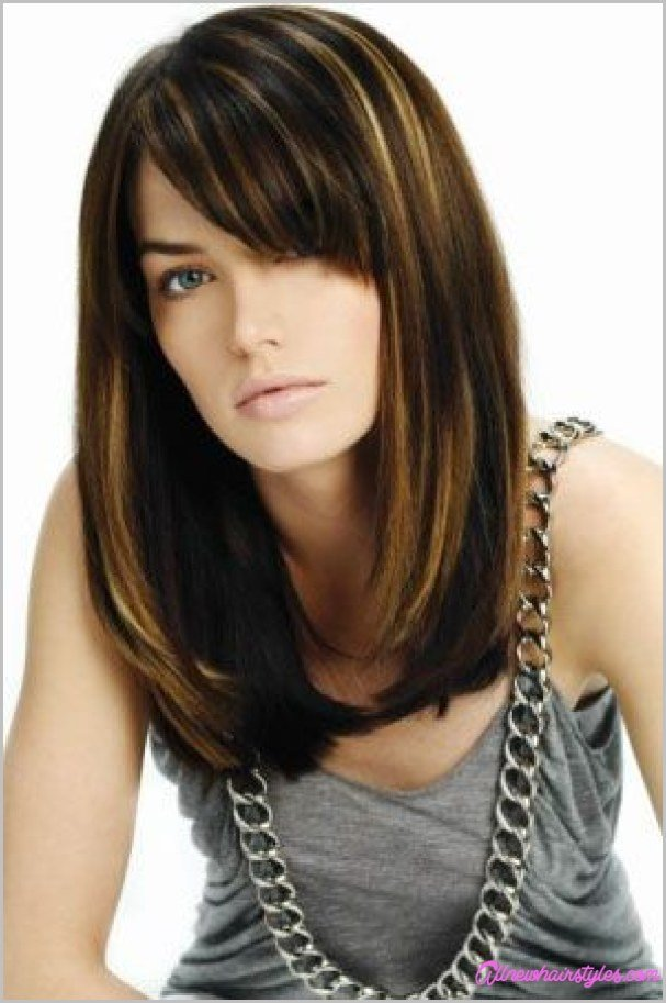The Best Haircuts For Medium Straight Hair With Bangs Allnewhairstyles Com Pictures