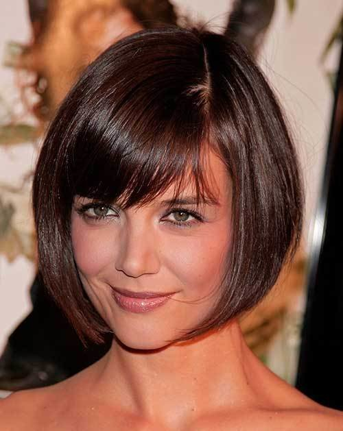 The Best 10 Bob Hairstyles With Bangs For Round Faces Bob Hairstyles 2018 Short Hairstyles For Women Pictures