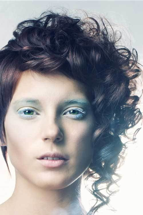 The Best 20 Curly Asymmetrical Pixie Hairstyles Short Hairstyles Pictures