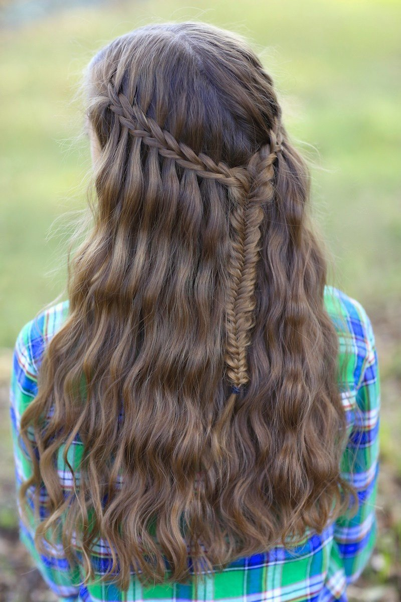 The Best Scissor Waterfall Braid Combo Pictures