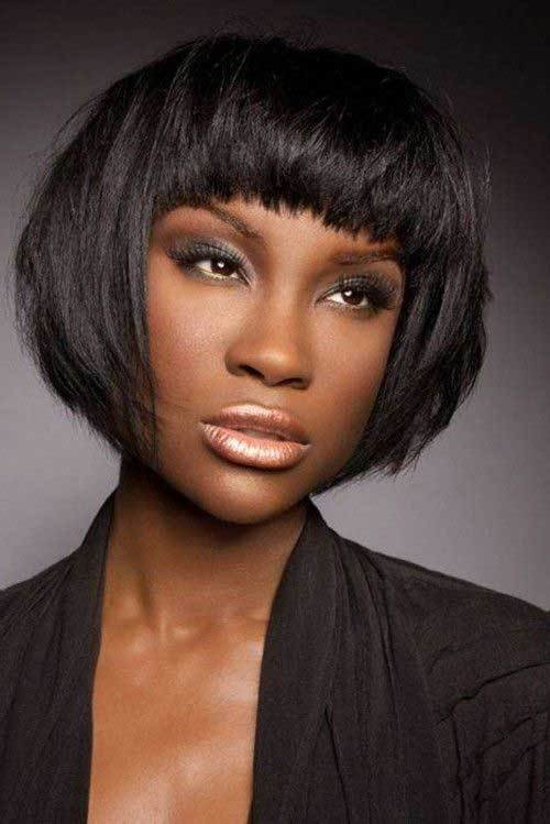 The Best Short Hairstyles With Bangs For Black Women Short Pictures