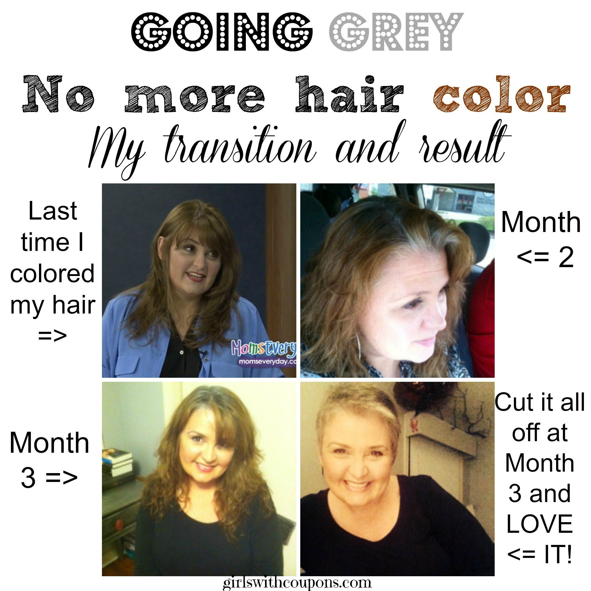 The Best Going Gray Nomorehaircolor My Transition The Cutting Pictures