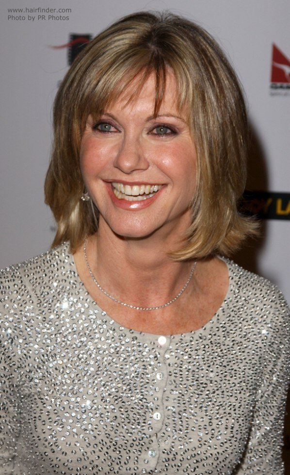 The Best Olivia Newton John S Bob Modern M*T*R* Hairstyle Pictures